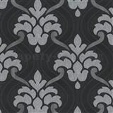 Vliesové tapety na stenu Memphis ornament sivo-strieborný