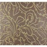 Vliesové tapety na stenu Messina listy zlato-sivé