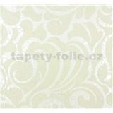 Vliesové tapety na stenu Messina - ornament krémovo perleťový