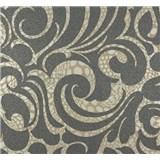 Vliesové tapety na stenu Messina - ornament zlato-hnedý