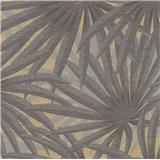Vliesové tapety na stenu IMPOL Metropolitan Stories palmové listy sivé na matno zlatom podklade
