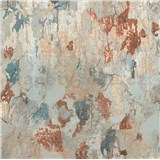 Vliesové tapety na stenu IMPOL Metropolitan Stories omietka s patinou modro-hrdzavou