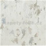 Vliesové tapety na stenu IMPOL Metropolitan Stories omietka biela s patinou modro-hnedou