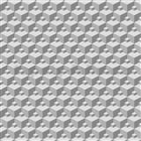 Vliesové tapety na stenu Modern 3D kocky sivé - POSLEDNÉ KUSY