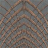 Vliesové tapety na stenu IMPOL Modernista Art Deco bronzová na sivom podklade