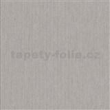 Vliesové tapety na stenu IMPOL Modernista úzke prúžky hnedé s metalickou patinou
