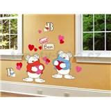 Samolepky na stenu Bears 50 cm x 70 cm