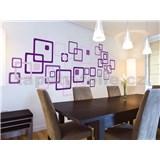 Samolepky na stenu Violet Squares 50 cm x 70 cm