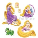 Samolepky na stenu detské - princezná Locika Na vlásku 30 x 40 cm