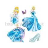 Samolepky na stenu detské - princezná Popoluška 30 x 40 cm