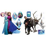 Samolepky na stenu Frozen Anna, Elsa a Olaf rozmer 30 x 40 cm