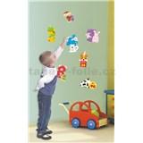 Samolepky na stenu detské čísla, 2x 60 x 32 cm, 17 dielna sada