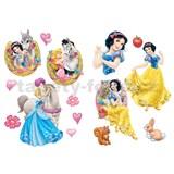 Samolepky na stenu Disney - princezné a kôň rozmer 45 x 65 cm