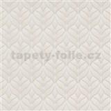 Vliesové tapety na stenu Natalia moderný vzor lístky hnedé