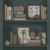 Vliesové tapety na stenu Natalia police s knihami