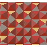 Vliesové tapety NENA kaleidoskop červeno-sivý