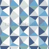 Vliesové tapety NENA kaleidoskop modro-sivý