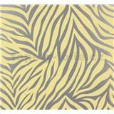 Vliesové tapety NENA zebra vzor strieborno-žltý