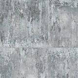 Vliesové tapety na stenu NEUE BUDE 2.0 betónová stena sivo-strieborná