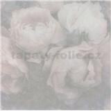 Vliesové tapety IMPOL New Wall kvety veľké sivo-ružové