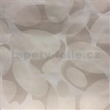 Vliesové tapety na stenu Barletta moderní elipsy svetlo hnedé