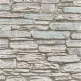 Vliesové tapety na stenu Belinda kameň ukladaný hnedo-modrý