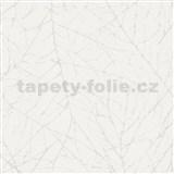 Vliesové tapety na stenu Belinda vetvičky biele na bielej štruktúre
