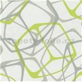 Vliesové tapety na stenu Poco 3D kocky zeleno-sivé