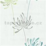 Vliesové tapety na stenu Novara kvety tyrkysové