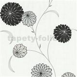 Vliesové tapety na stenu Novara kvety čierne