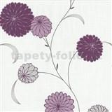 Vliesové tapety na stenu Novara kvety fialové