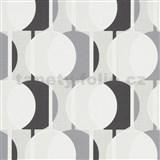 Vliesové tapety na stenu IMPOL Novara 3 korálkový vzor vzor sivo-čierny s trblietkami