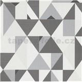 Vliesové tapety na stenu IMPOL Novara 3 geometrický vzor sivo-biely