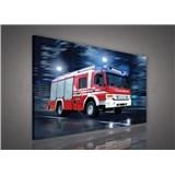 Obraz na stenu hasičský voz 75 x 100 cm