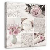 Obraz na stenu kvety ruží 60 x 60 cm