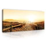 Obraz na stenu cestička na pláž 150 x 50 cm