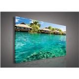 Obraz na stenu Maledivy 75 x 100 cm