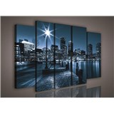 Obraz na plátne mestské nábrežie 150 x 100 cm