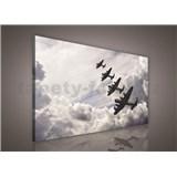 Obraz na stenu lietadla v oblakoch 75 x 100 cm