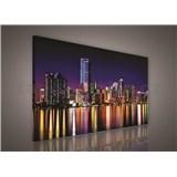 Obraz na stenu nočné veľkomesto 75 x 100 cm