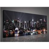 Obraz na stenu veľkomesto v noci 145 x 45 cm