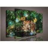 Obraz na plátne jaguár v džungli 150 x 100 cm