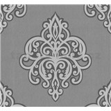 Vliesové tapety na stenu Opal ornament svetlo sivý na sivom podklade