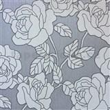 Vliesové tapety na stenu Opal kvety sivo-strieborné na sivom podklade s jemným ligotom