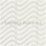 Vliesové tapety na stenu Opulence moderné vlnovky bielo-sivé