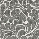 Vliesové tapety na stenu Opulence abstraktný vzor tmavo sivý-biely