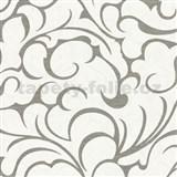 Vliesové tapety na stenu Opulence abstraktný vzor sivo-biely