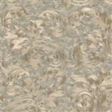 Vliesové tapety na stenu Opulence rastlinný vzor hnedý