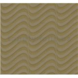 Vliesové tapety na stenu Opulence moderné vlnovky hnedo-sivé