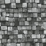 Vliesové tapety na stenu Origin - drevená mozaika sivo-čierna